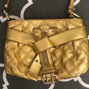 Marc Jacobs gold belted crossbody bag